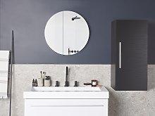 Bathroom Cabinet Black 88 x 40 x 35 cm Modern
