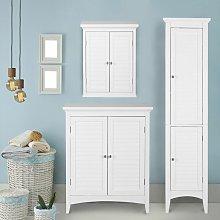 Bathroom Cabinet Cupboard Unit Set 3 pcs White