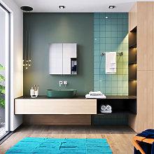 Bathroom Cabinet Double Mirror Wall Mounted