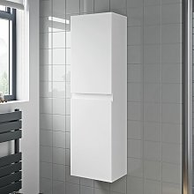 Bathroom Cabinet Flat Pack Gloss White Wall Hung
