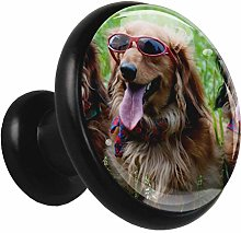 Bathroom Cabinet Knobs Dog with Glasses Kitchen