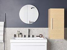 Bathroom Cabinet Light Wood 88 x 40 x 35 cm Modern