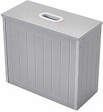 Bathroom Cabinet Storage Box 18x33x37cm (Gray)