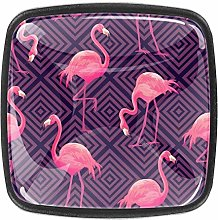Bathroom Cabinet Tropical with Pink Flamingos