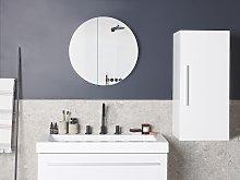 Bathroom Cabinet White 88 x 40 x 35 cm Modern