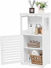 Bathroom Cabinet, White Storage Tower Wooden