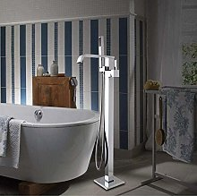 Bathroom Chrome Polished Floor Stand Faucets