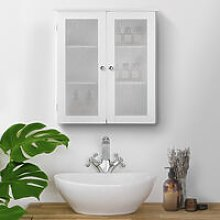 Bathroom Connor Wall Cabinet with 2 Glass Doors