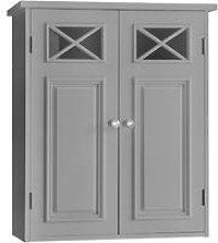 Bathroom Dawson Wall Cabinet With Two Doors Grey