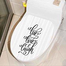 Bathroom Decal Live Love Composition House