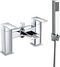 Bathroom Dual Handle Bath Filler Mixer Tap & Hand