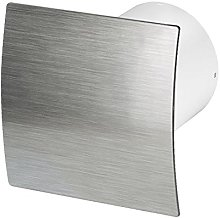 Bathroom Extractor Fan 100mm with Timer Silver