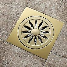 Bathroom Floor Drain Copper 4 Inch Golden Square
