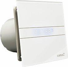 Bathroom Glass Extractor Fan 120mm White