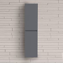 Bathroom Grey 1400mm High Tall Wall Hung Cabinet