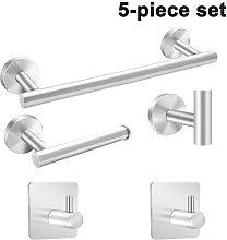 Bathroom Hardware Set 5 Piece Stainless Steel Bath