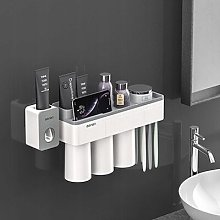 Bathroom holder wall mount 3 cups + toothpaste