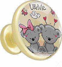 Bathroom knobs Cute Gray Bear nightstands knobs