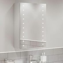 Bathroom LED Mirror Cabinet Illuminated Shaver