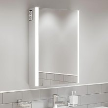 Bathroom LED Mirror Cabinet Shaver Socket