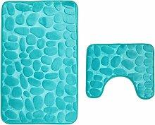 Bathroom mats, 2-piece, non-slip washable. Bath