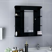 Bathroom Mirror Cabinet Black 66x17x63 cm MDF