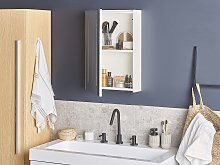 Bathroom Mirror Cabinet with LED White 40 x 60 cm