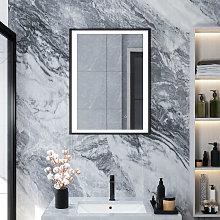 Bathroom Mirror with Illuminated LED Light Touch