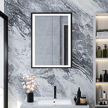 Bathroom Mirror with Illuminated LED Light Touch Sensor + Demister 500(W)*700(H)