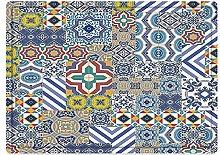 Bathroom non-slip mat floor mat Moroccan,Moroccan