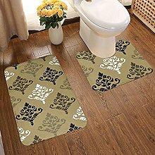 Bathroom Rug Mat Set 2 Piece,Extra Soft and