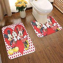 Bathroom Rug Mat Set 2 Piece, Extra Soft And