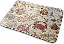 Bathroom Rugs Bath Mat Beach Shell Bird Crab,