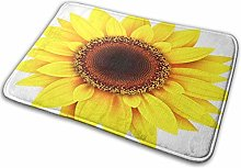 Bathroom Rugs Bath Mat Blooming Sunflower Flower