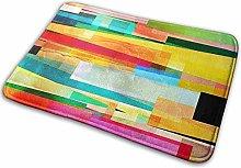 Bathroom Rugs Bath Mat Colourful Abstract 2, 16x24
