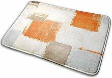 Bathroom Rugs Bath Mat Gray Beige Orange, 16x24