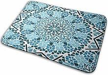 Bathroom Rugs Bath Mat Moroccan, 16x24 Inch,