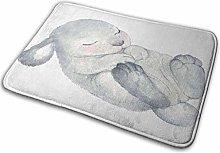 Bathroom Rugs Bath Mat Rabbit 6, 16x24 Inch,