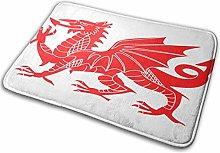 Bathroom Rugs Bath Mat Welsh Dragon Britain, 16x24