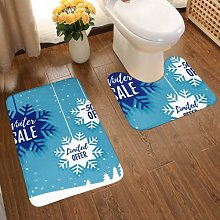 Bathroom Rugs Set 2 Piece Polyester Bath Mats And