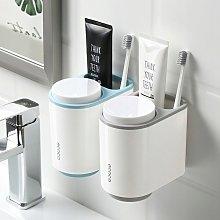 Bathroom shelf Storage box Gray cup shelf blue 2