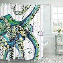 Bathroom Shower Curtain Colorful Fashion Octopus