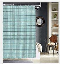 Bathroom Shower Curtain Duck Egg Blue Linen Print