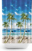 Bathroom Shower Curtain Extra Long and Wide -