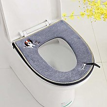 Bathroom Soft Warm Washable Toilet Seat Cover