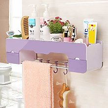 Bathroom Storage Shelf, Wall Mounted No Drilling
