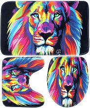 Bathroom Supplies Colorful Lion Waterproof