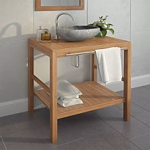 Bathroom Vanity Cabinet Solid Teak 74x45x75 cm -