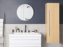 Bathroom Wall Cabinet Light Wood MDF 132 x 40 cm
