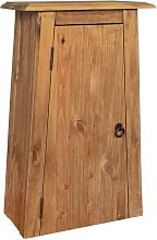 Bathroom Wall Cabinet Solid Recycled Pinewood